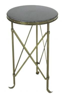 Round Metal/ Marble Top Side Table main image