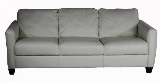 White Leather Sofa main image