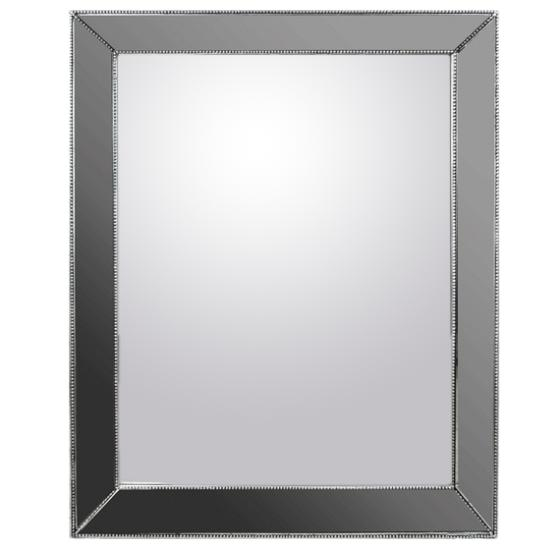 Heavy Silver Rectangular Mirror  main image