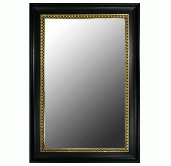 Black and Gold Rectangular Mirror main image