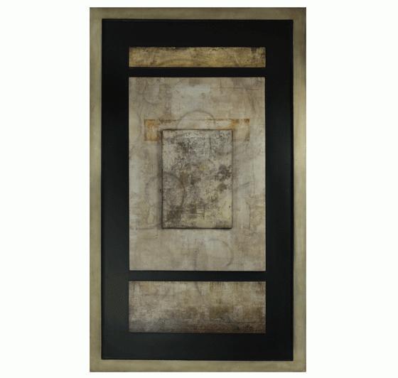 Beige Abstract Panel Art main image