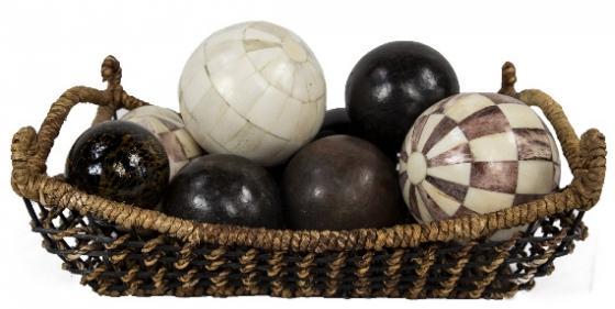 Decorative Spheres in Basket main image
