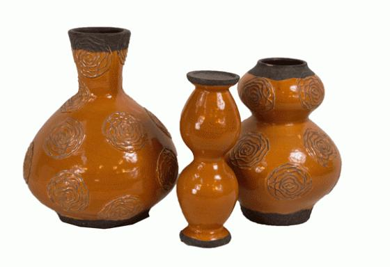 Orange Vases and Candle Holder main image