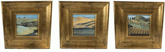 Miniature Landscapes with Gold Frames main image