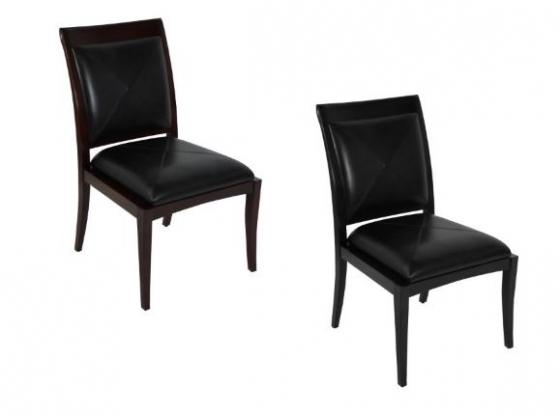 Dark Brown Faux Leather Dining Chairs main image