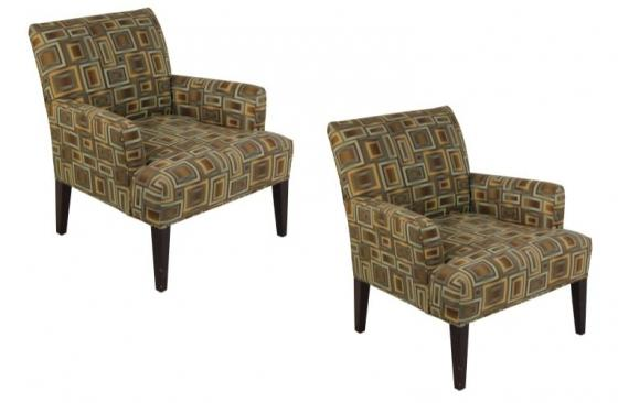 Light Brown/Blue Square Pattern Chairs main image