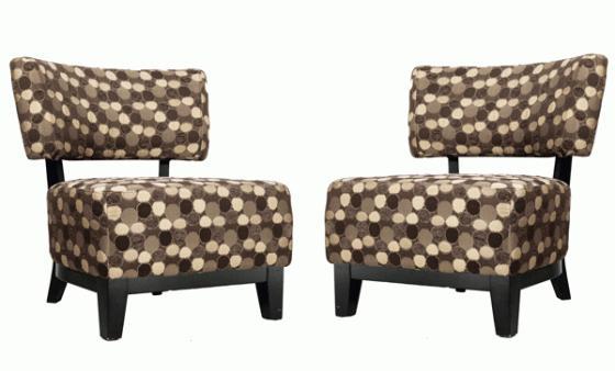 Brown Multi-Color Polka Dot Chairs main image