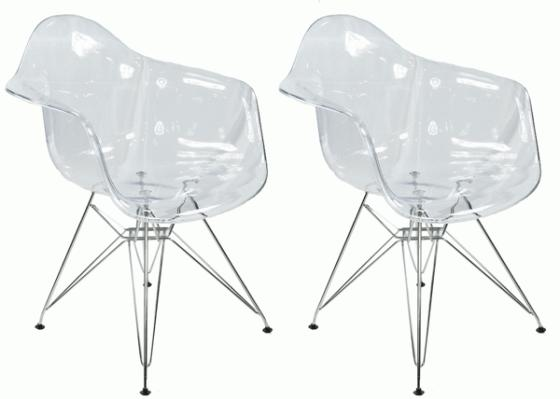 Ghost chairs with metal legs main image