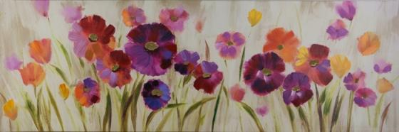 Pink and Purple Poppy Art main image