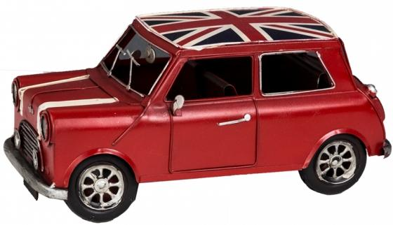 Antiqued Metal British Car with Union Jack Roof main image