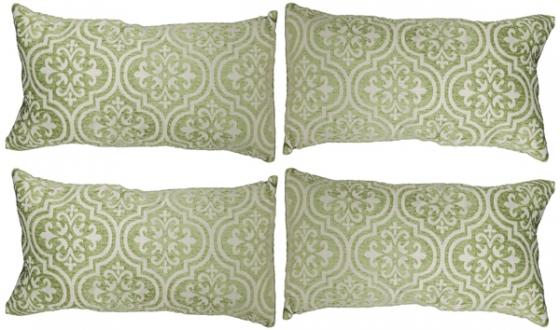 Green Lumbar Pillow Set main image