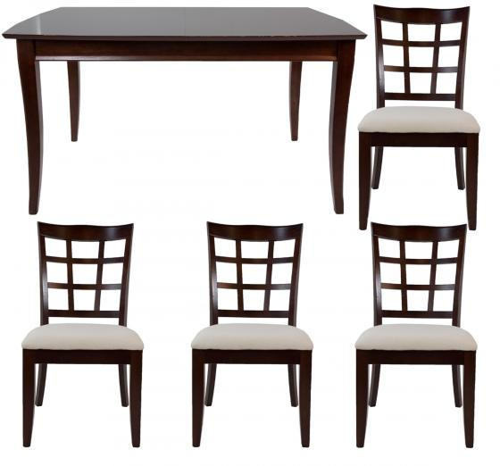 Dark Wood Table Set