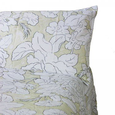 Beige and White Floral King Bedding Set main image