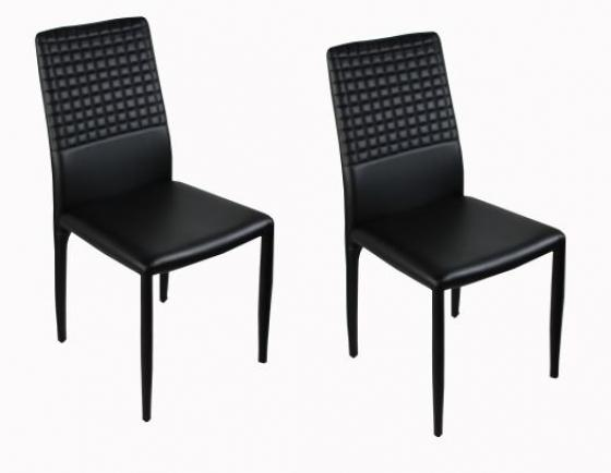 Black Soft Leather Office Chair Set main image