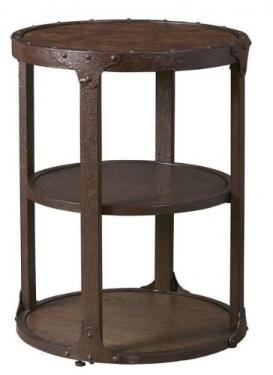 Rustic Brown Round End Table main image