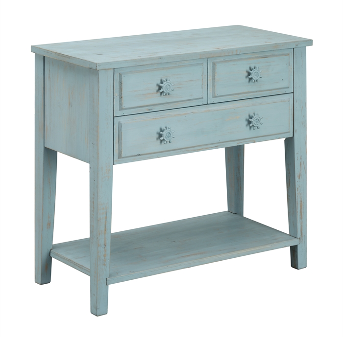 Three Drawer Console Table main image