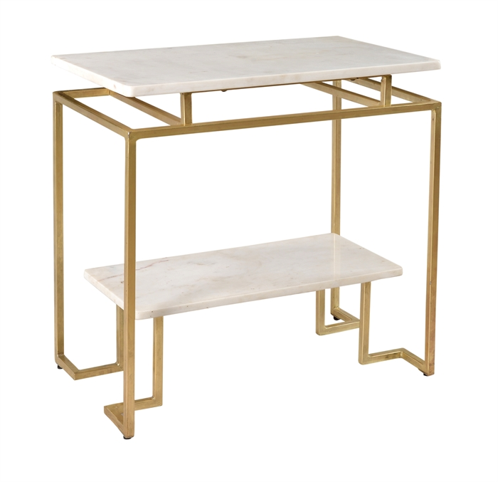 Vendar Burnished Gold Accent Table main image