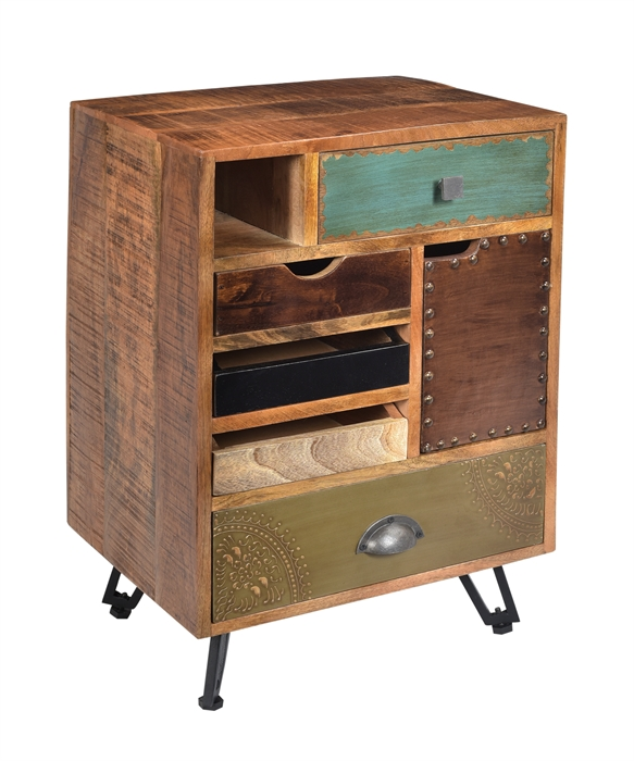 5 Drawer 1 Door End Table main image