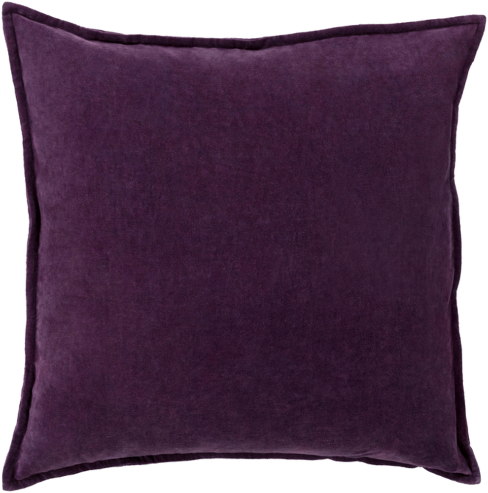 Dark Purple Cotton Velvet Throw Pillow 22 x 22 main image