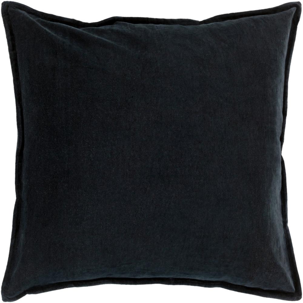Black Cotton Velvet Decorative Pillow 22 x 22 main image