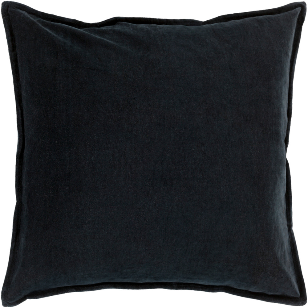 Black Cotton Velvet Decorative Pillow 22 x 22 main image