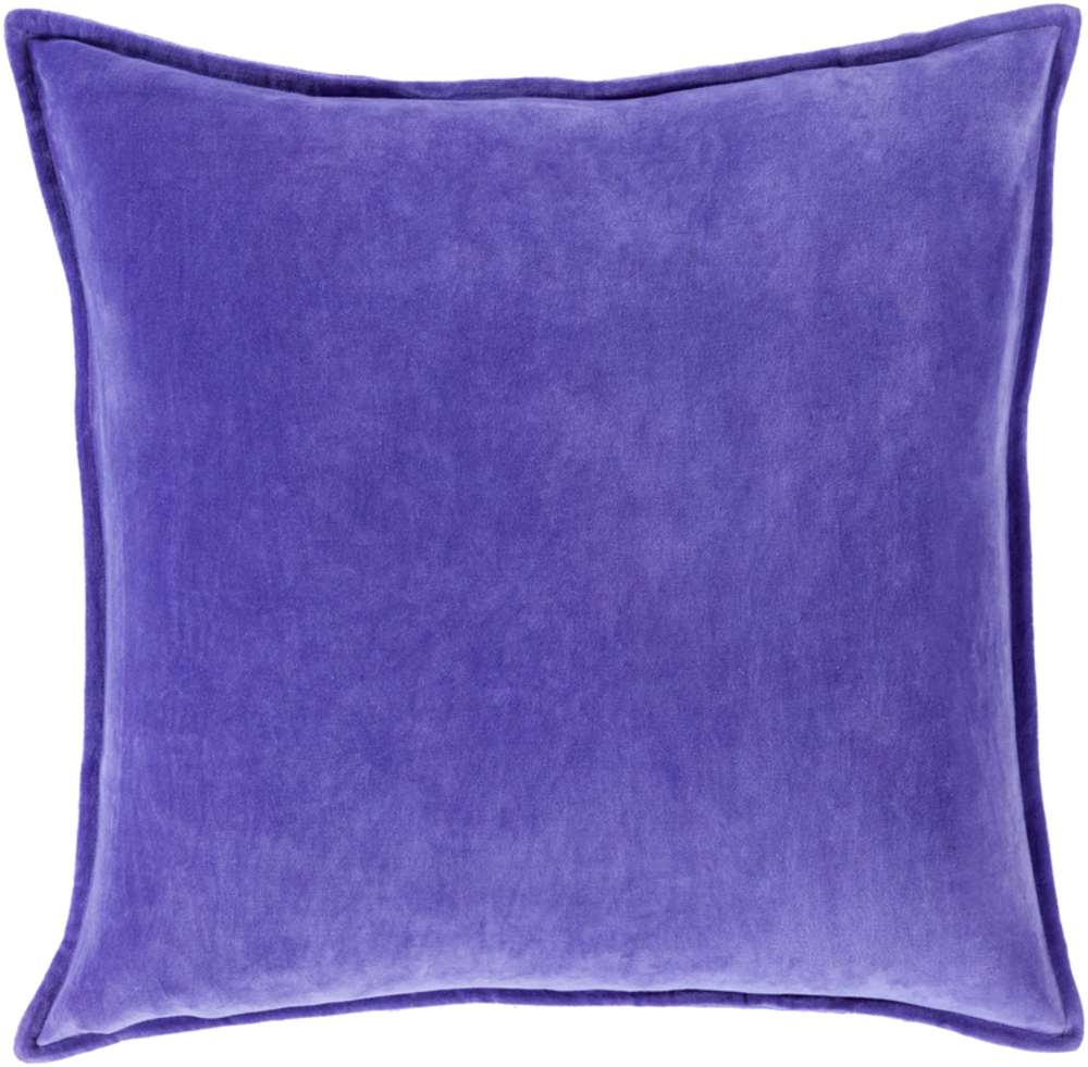 Bright Purple Cotton Velvet Throw Pillow 22 x 22 main image