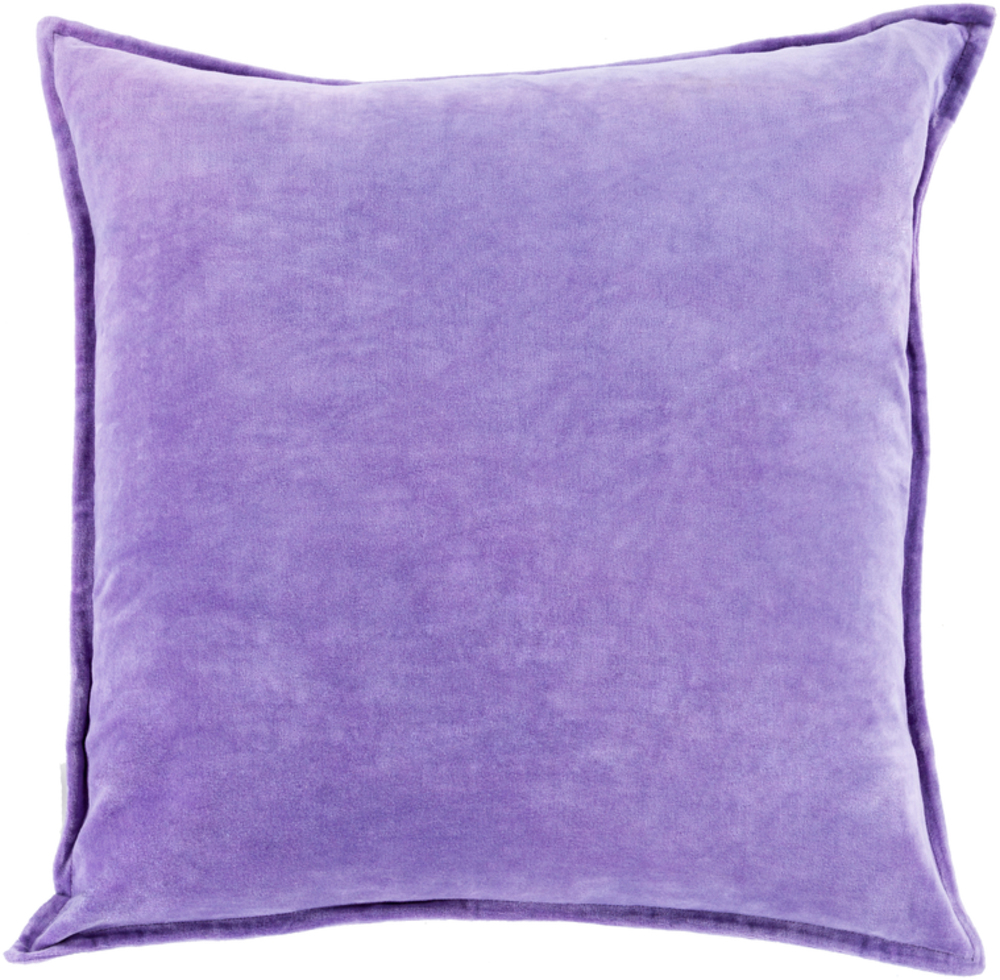 Violet Cotton Velvet Throw Pillow 22 x 22 main image