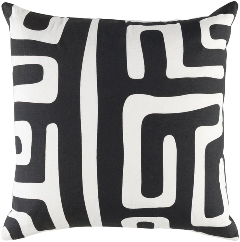 Black And Ivory Ethiopia Decorative Pillow 18 x 18 main image