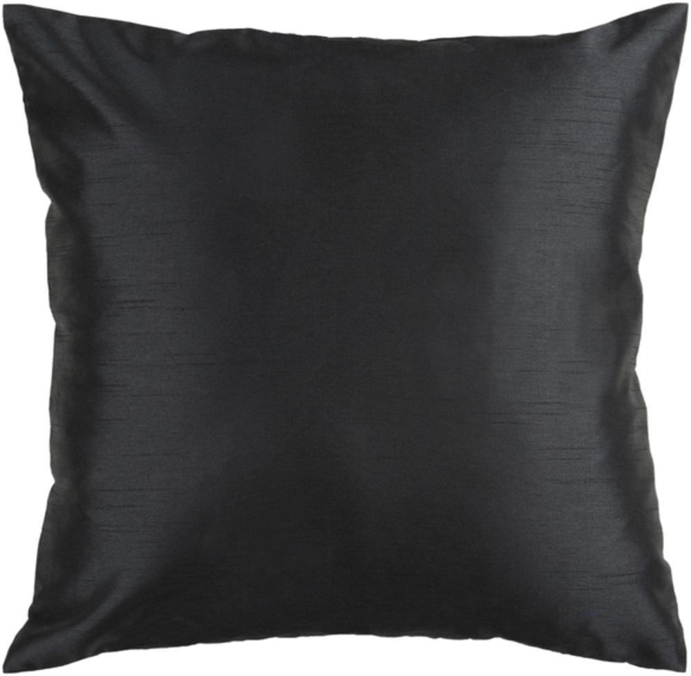 Black Satin Decorative Pillow 22 x 22 main image