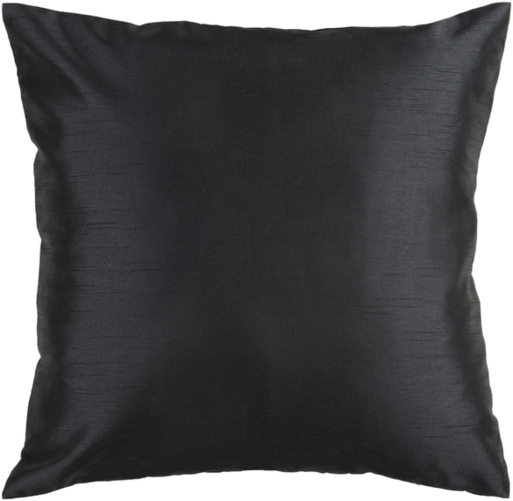 Black Satin Decorative Pillow 22 x 22 main image