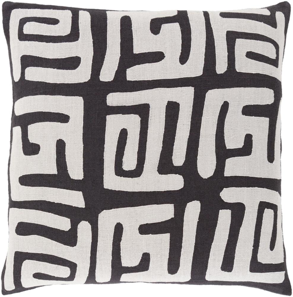 Black And White Nairobi Decorative Pillow 22 x 22 main image