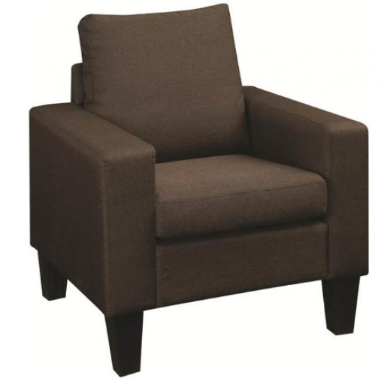 Bachman Chocolate Upholstered Chair main image