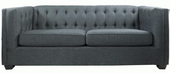 Grey Tuxedo Sofa