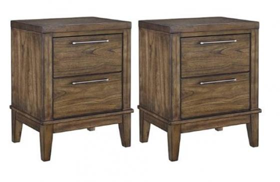 SET OF TWO DRAWER NIGHT STANDS main image