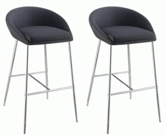 Fabric Counter Height Stools W/ Chrome Base main image