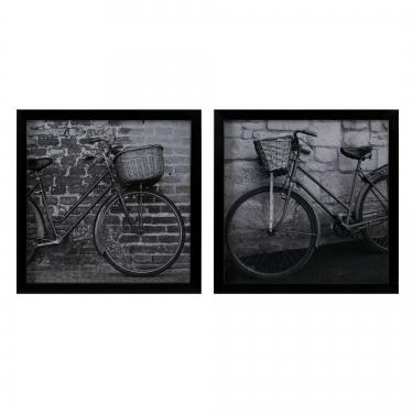 Two Bicycles Black/ White Framed Graphic 2-piece S main image