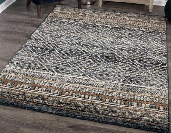 Blue Multi-Pattern Rug 6' X9' main image
