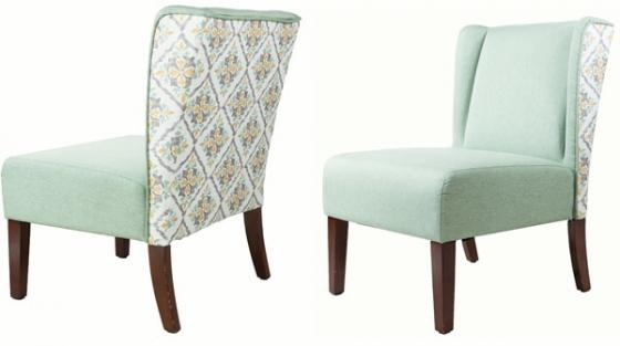 PaleGreen, Patterned back Chair main image