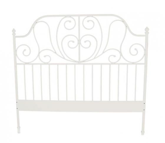 White Metal Queen Headboard main image
