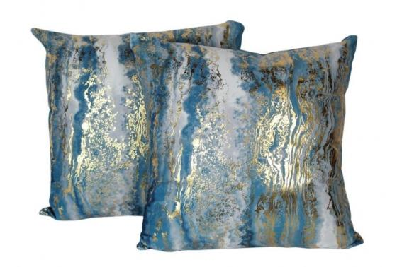 Set of Gold and Teal Pillows main image