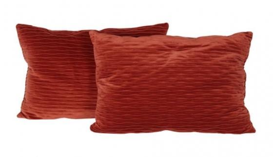 Set of Orange Lumbar Pillows main image