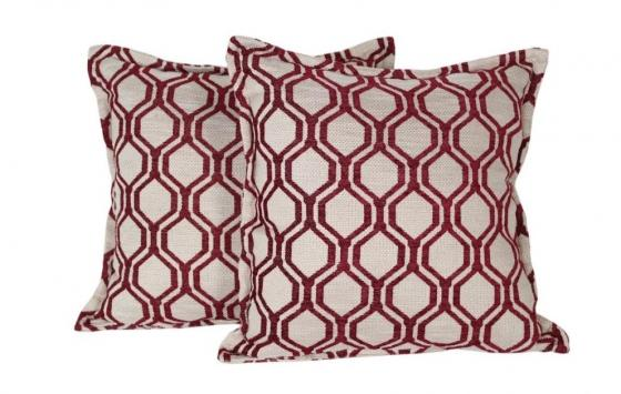 Set of Red & Beige Pillows main image