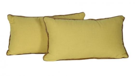 Set of Yellow Lumbar Pillows main image
