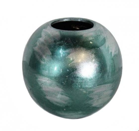 Teal and Silver Metallic Vase main image