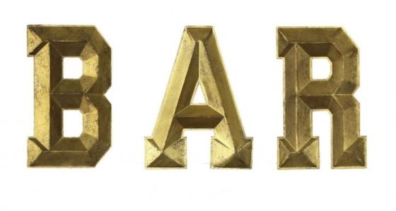 BAR Metallic Letters main image