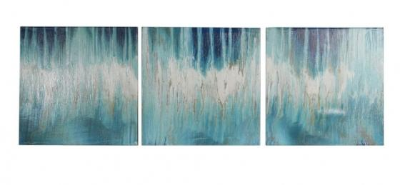 Blue and White Abstract Canvas main image