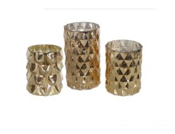Gold Mercury Glass Vase Set main image