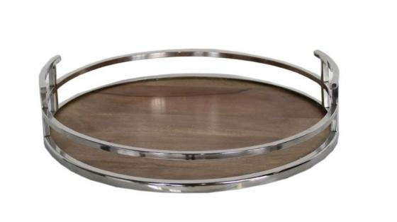 Silver and Wood Tray main image