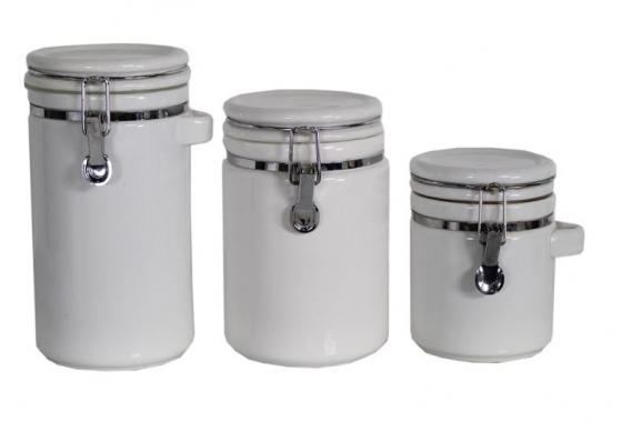 White Kitchen Ceramic Canisters main image