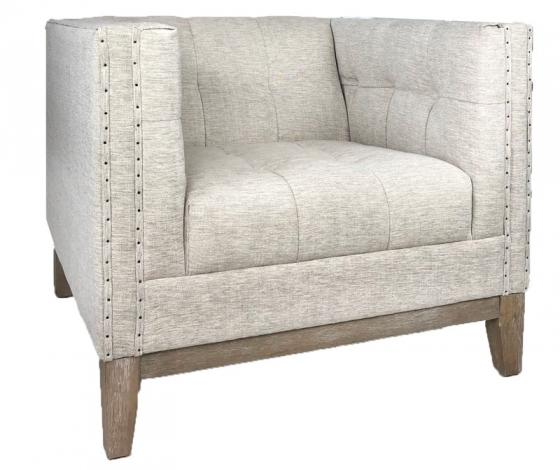 Taupe Tufted Nailhead Myles Armchair main image